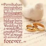 ucapan pernikahan islam