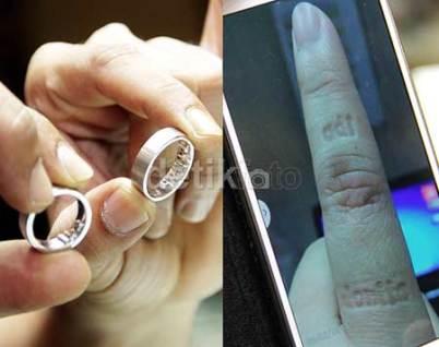 cincin pernikahan adi donita