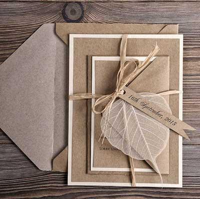 4 tips undangan pernikahan ramah lingkungan
