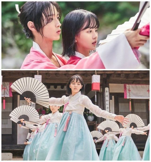 "Jang Dong Yoon y Kim So Hyun para el drama ""The Tale of Nokdu"" ."
