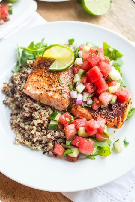 watermelon salmon