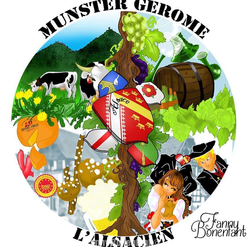 étiquette munster Siffert-Frech par Fanny Bonenfant