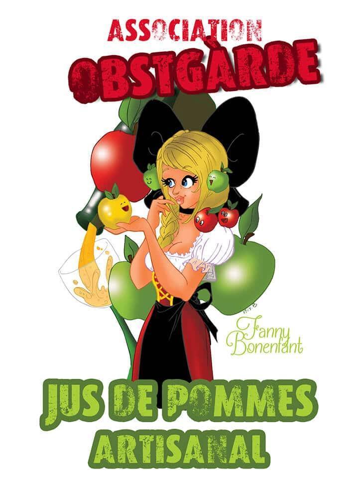 Association Obstgarde par Fanny Bonenfant illustratrice