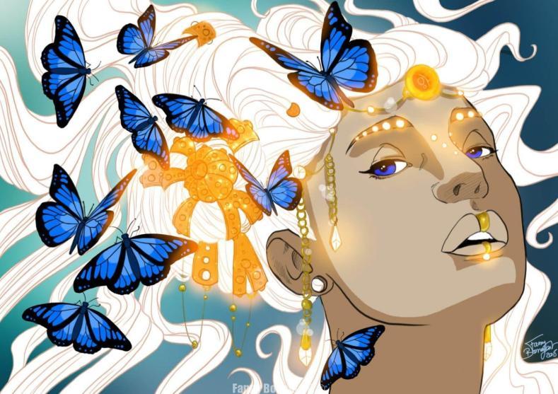 Amazone aux papillons par Fanny Bonenfant illustrations et design