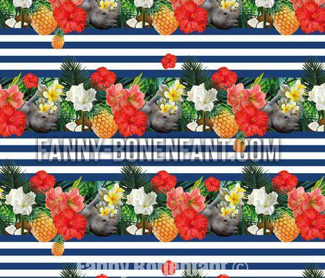 jungle marinière design motif textile Fanny Bonenfant