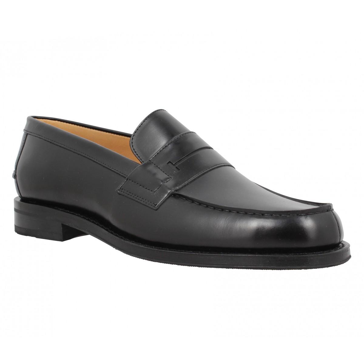 Heschung Hedera Cuir Homme Noir Fanny Chaussures