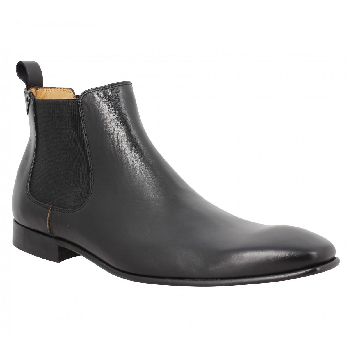 Paul Smith Falconer Cuir Homme Noir Fanny Chaussures