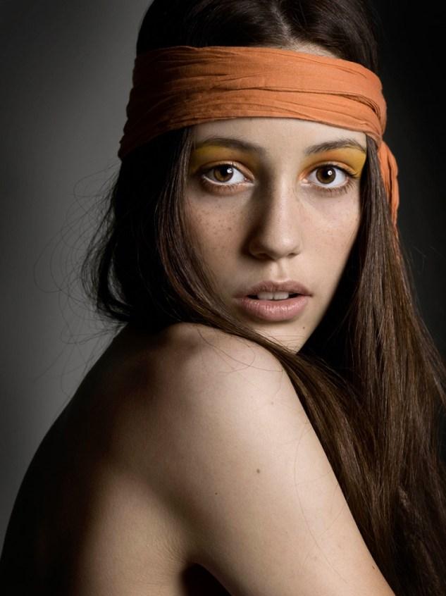 Portrait beauté, type mode.