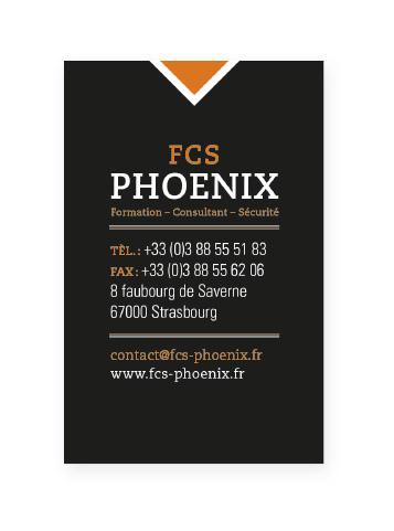 Carte de visite Phoenix Verso