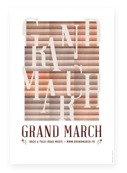 Affiche générique concert Grand March