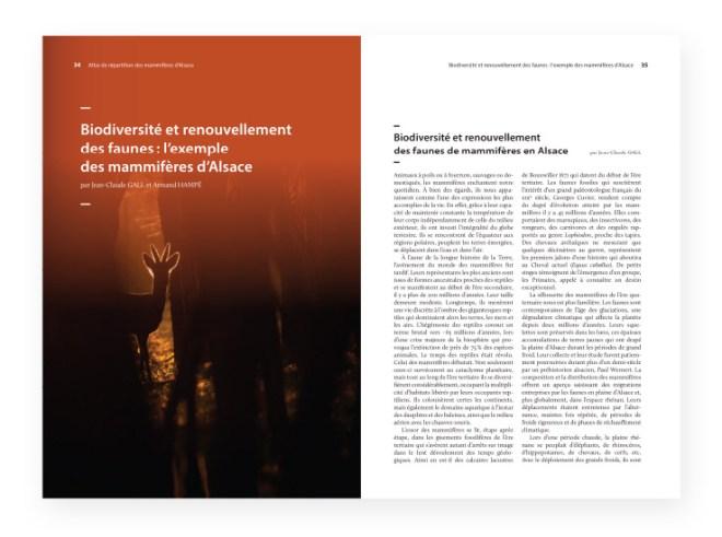 Atlas de repartition des mammiferes d'alsace - page interieures 2