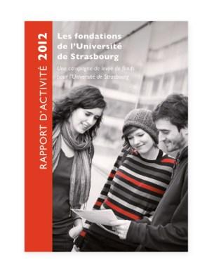 Rapport 2012 Fondation Universite Strasbourg - couverture