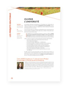 Rapport 2013 Fondation Universite Strasbourg - 7