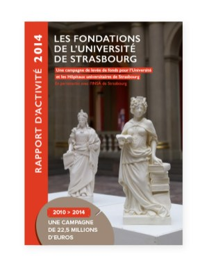 Rapport 2014 Fondation Universite Strasbourg - couverture