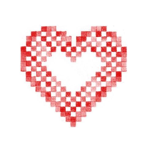 Cœur alsacien brodé