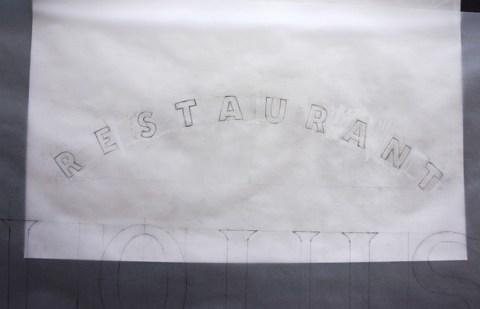 Panneau lettres peintes - dessin