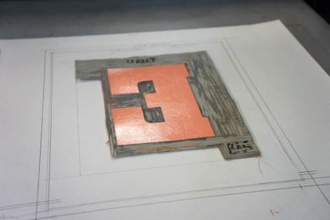 Encrage de la plaque gravée