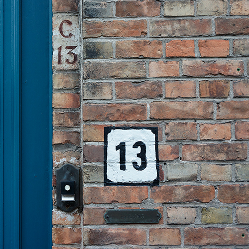 Chiffre 13 Numéro Rue