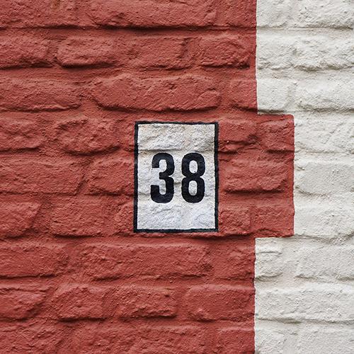 Chiffre 38 Numéro Rue