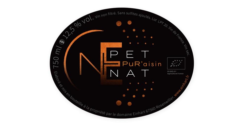 Étiquette du Pet Nat du domaine Einhart
