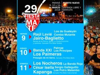Fiesta Nacional del Mate 2018 Paraná