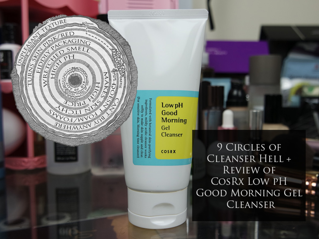 9 Circles of Cleanser Hell + Review of CosRx Low pH Good Morning Gel Cleanser
