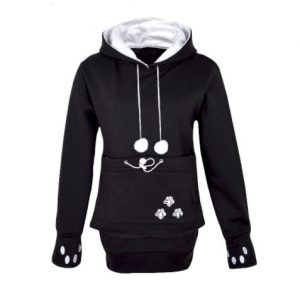 Pawsome Cat Hoodie With Pouch