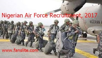 Nigerian Air Force Recruitment BMTC 2017