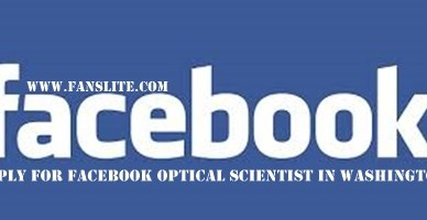 Apply For Facebook Optical Scientist
