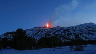 Mount Etna Spews Lava Overnight
