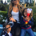 Mariah Carey visits Disneyland with her kids