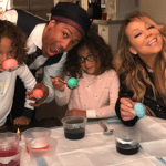 Mariah Carey & Nick Cannon Reunite to Dye Easter Eggs