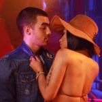 Rapper Nicki Minaj & Joe Jonas got plucky on Set