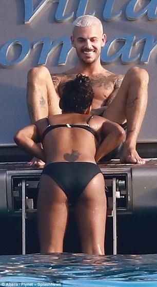 Christina Milian locks lips with her new French boyfriend