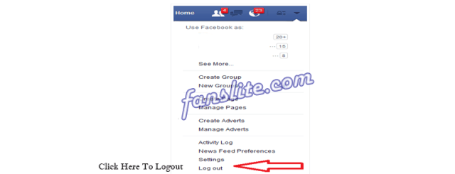 Logout Facebook Account
