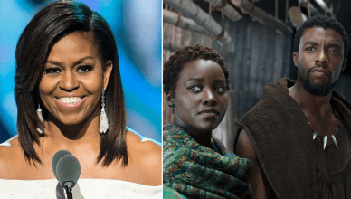"Michelle Obama Congratulates ""Black Panther"""
