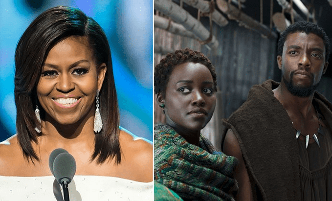 "Michelle Obama Congratulates ""Black Panther"""