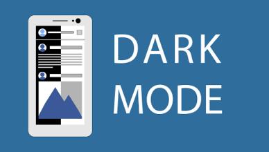 Facebook Dark Night Mode Settings