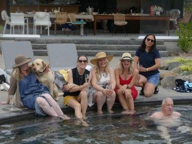 Relaxing pool-side