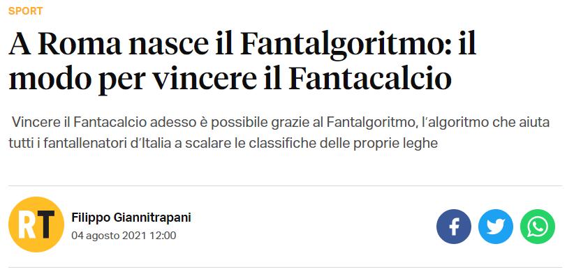 Fantalgoritmo