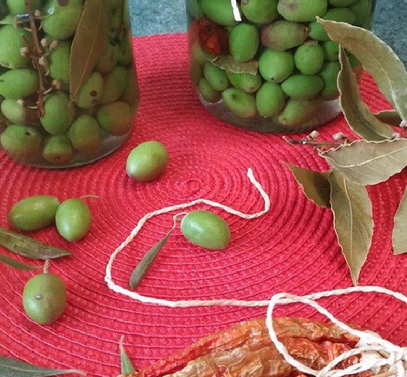 Conserva di olive verdi in salamoia
