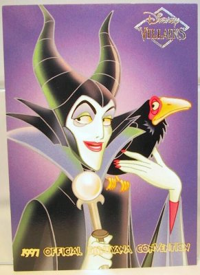 Maleficent With Diablo Disney Villains 2 Sided Card From