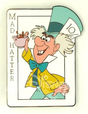 Mad Hatter Card Pin From Our Pins Collection Disney