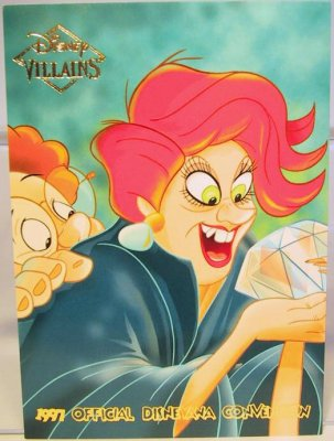 Medusa Amp Snoops Disney Villains 2 Sided Card From Our