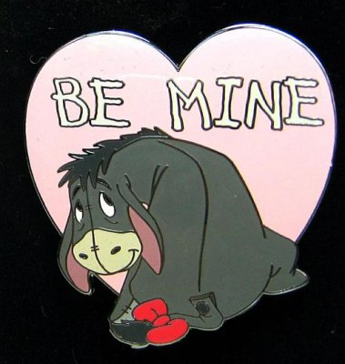 Eeyore Be Mine St Valentines Day Pin From Our Pins