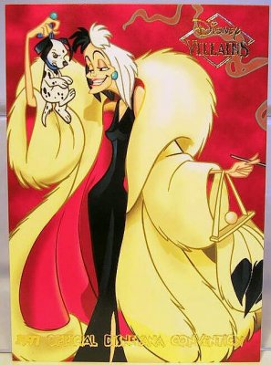 Cruella De Vil Disney Villains 2 Sided Card From Our Other
