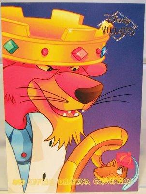 Prince John Amp Sir Hiss Disney Villains 2 Sided Card From