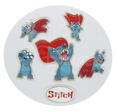 Set Of 6 Stitch Superhero Pins From Our Pins Collection