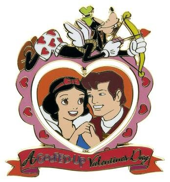 All Goofed Up Valentines Day Spinner Pin Snow White