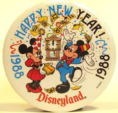 Happy New Year 1988 At Disneyland Button From Our Buttons